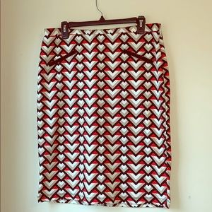 Jules & Leopold | geometric pattern skirt large